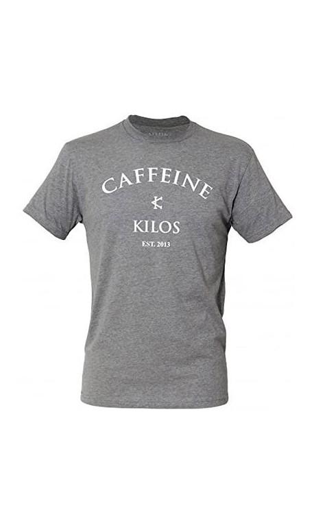 T-shirt sport Homme Caffeine and Kilos - Logo T Grey