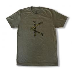 T-shirt green TIGER CAMO for men | CAFFEINE AND KILOS