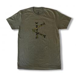 T-shirt Homme vert TIGER CAMO | CAFFEINE & KILOS