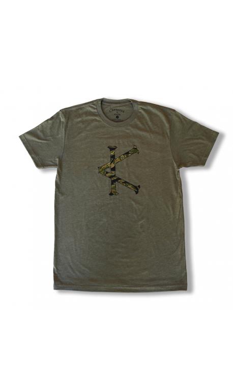 T-shirt green TIGER CAMO for men | CAFFEINE AND KILOS