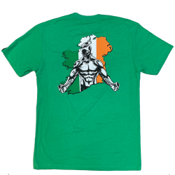 T-shirt green IRISH SAVAGE 2020 for men   SAVAGE BARBELL