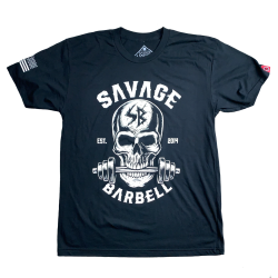 T-shirt black BITE ME for men | SAVAGE BARBELL