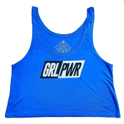 Crop top bleu royal GRL PWR | SAVAGE BARBELL