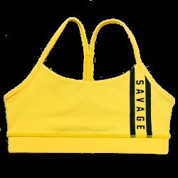 Brassière femme jaune VIPER SQUAD | SAVAGE BARBELL