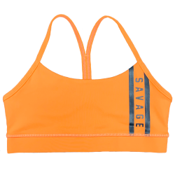 Brassière femme orange VIPER SQUAD | SAVAGE BARBELL