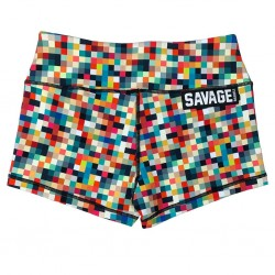 Training short multicolor TETRIS for women | SAVAGE BARBELL