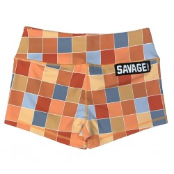 Short femme multicolor DISCO SQUARE|SAVAGE BARBELL