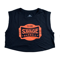 Training crop black 2020 TEAM SAVAGE for women | SAVAGE BARBELL