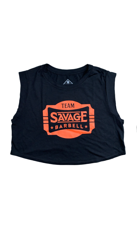 Débardeur large crop femme noir 2020 TEAM SAVAGE | SAVAGE BARBELL