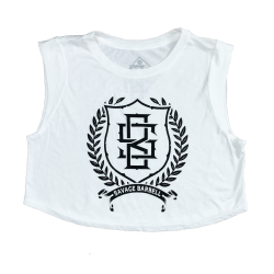 Training crop white ATHENA for women | SAVAGE BARBELL