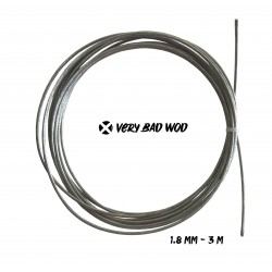 Cable 1,8 mm Gris non gainé 3 m| VERY BAD WOD