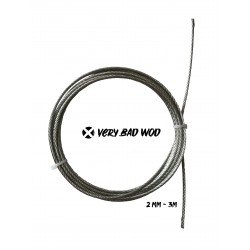 Cable 2 mm Gris non gainé 3 m| VERY BAD WOD