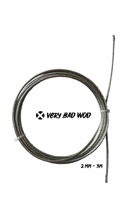 Grey uncoated cable 2 mm and 3 m | VERY BAD WOD