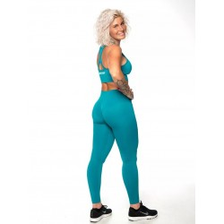 Training legging blue high waist SEAMLESS for women | NORTHERN SPIRIT