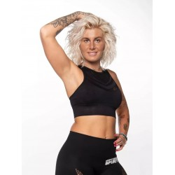 Crop top noir SEAMLESS| NORTHERN SPIRIT