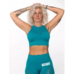 Training Crop Top blue SEAMLESS for women | NORTHERN SPIRIT