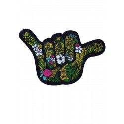 Velcro backing multicolor woven patch OHANA SHAKA | PROJECT X