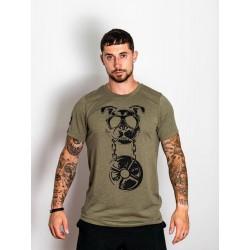 T-Shirt Homme vert kaki CANIWOD | VERY BAD WOD