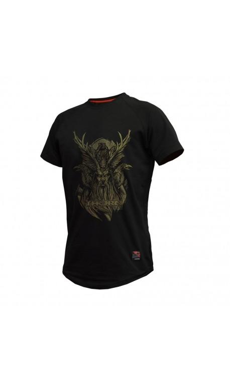 Training T-Shirt BLACK ODIN for men | THORN FIT