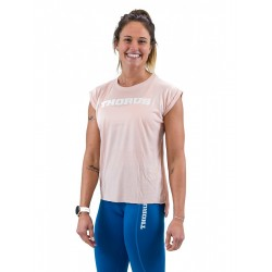 T-shirt PEACH rolled up sleeves for women | THORUS