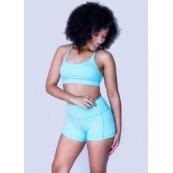 Short Femme bleu BASIC ICEE | FEED ME FIGHT ME