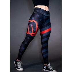 Legging femme multicolor THIN RED LIGNE ENDURANCE | FEED ME FIGHT ME