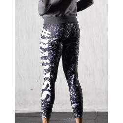 Legging Femme Noir Splash Badass pour CrossFiteuse - NORTHERN SPIRIT
