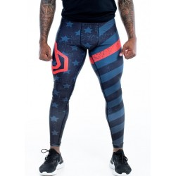 Legging homme multicolor THIN RED LIGNE ENDURANCE | FEED ME FIGHT ME