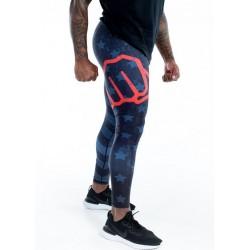 Training legging multicolor THIN RED LIGNE ENDURANCE for men - FEED ME FIGHT ME
