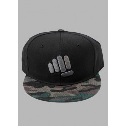 Black CAMO FLAT BILL snapback | FEED ME FIGHT ME