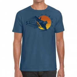 T-shirt Homme bleu SUNSET FIREPOWER 2020 Q3 | 5.11 TACTICAL