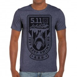 T-shirt Homme bleu JUST KEEP SWIMMING 2020 Q3 | 5.11 TACTICAL