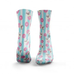 Chaussettes multicolores PUG LIFE | HEXXE SOCKS