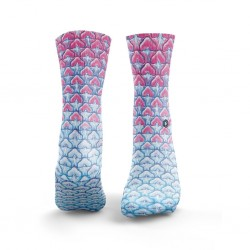 Chaussettes multicolores PINEAPPLE SKINS pink blue| HEXXE SOCKS