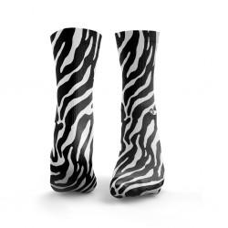 Chaussettes multicolores ZEBRA black & white| HEXXE SOCKS