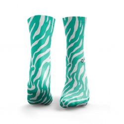 Chaussettes multicolores ZEBRA mint green| HEXXE SOCKS