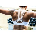 Training bra WHITE KNOTTY BACK for women | SAVAGE BARBELL