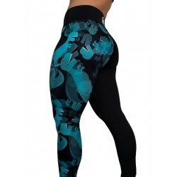 Training legging multicolor DINO MIGHT for women - FEED ME FIGHT ME