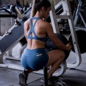 Training short BLUE STEEL for women | SAVAGE BARBELL
