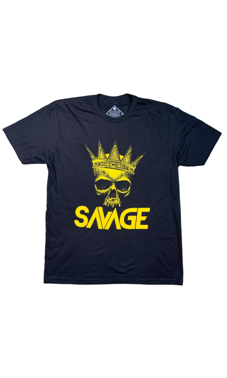 T-shirt black THE KING for men   SAVAGE BARBELL