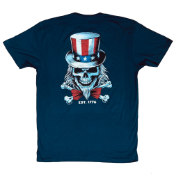 T-Shirt homme bleu UNCLE SAM | SAVAGE BARBELL
