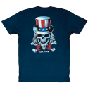 T-Shirt homme bleu UNCLE SAM | SAVAGE BARBELL