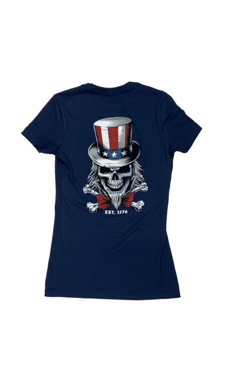 Training T-shirt midnight blue UNCLE SAM for women - SAVAGE BARBELL