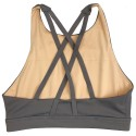 Training bra grey 4 STRAPS HIGH CHEST PEPPER for women | SAVAGE BARBELL