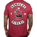 T-shirt red CARDINAL NOWHERE RIDERS for men   PROJECT X