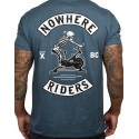 T-shirt blue MARINE NOWHERE RIDERS for men   PROJECT X