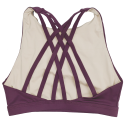 Training bra purple 6 STRAPS HIGH CHEST WINE for women | SAVAGE BARBELL