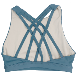 Training bra blue 6 STRAPS HIGH CHEST BLUE STEEL for women | SAVAGE BARBELL