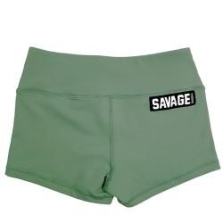 Training short green MOSS for women | SAVAGE BARBELL