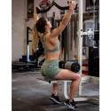 HIGH NECK MOSS green sport bra| SAVAGE BARBELL